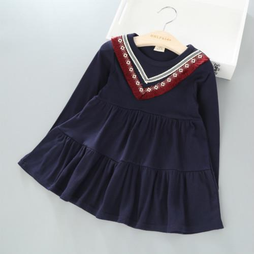 Vishine Kid Girls Long Sleeve Dress  E618