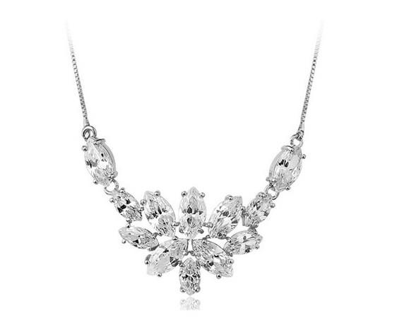 Vivere Rosse Princess Anna Cubic Zirconia Necklace