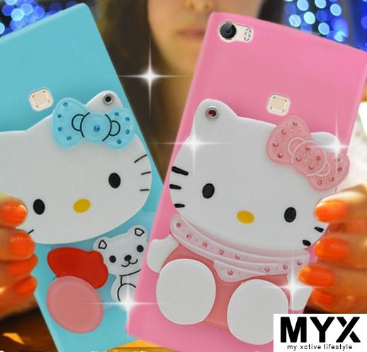 Vivo v3max Silicone Cartoon Cute Soft Casing Case Cover