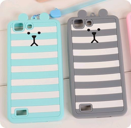 Vivo X5L X5SL X5M x5v Cute Bear Rabbit Casing Case Cover *Free Lanyard