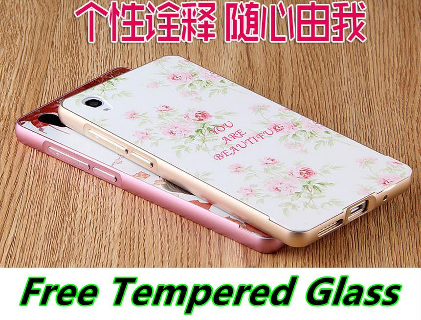 ViVO Y51 3D Relief Metal Bumper Case Cover Casing +Tempered Glass
