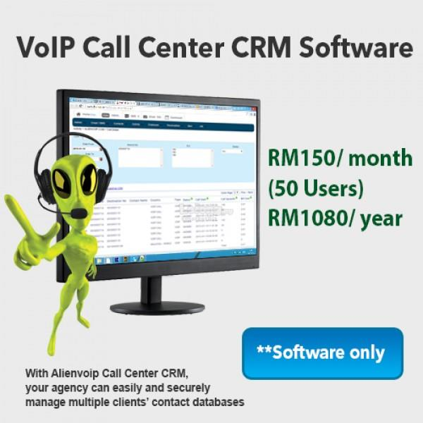 VoIP Call Center CRM Software (per month)