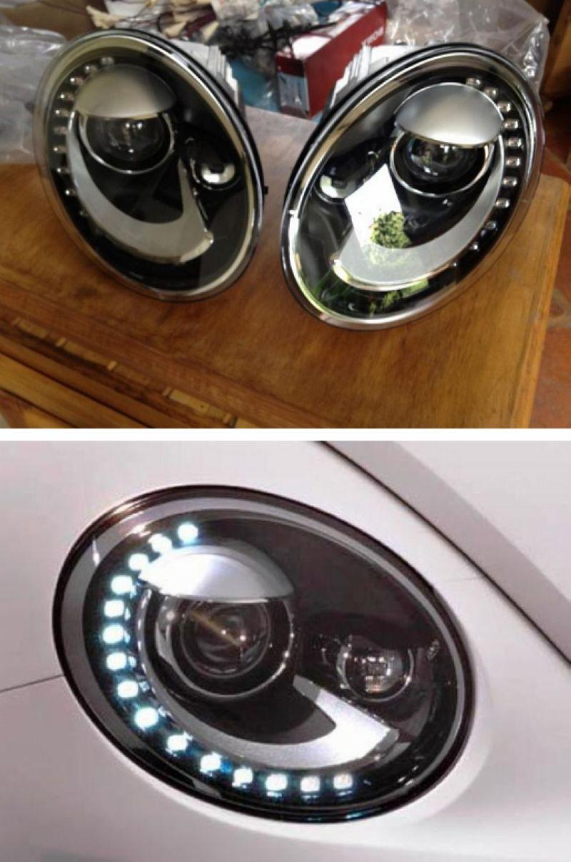 Volkswagen Beetle 12-13 LED DRL R8 Projector Head Lamp