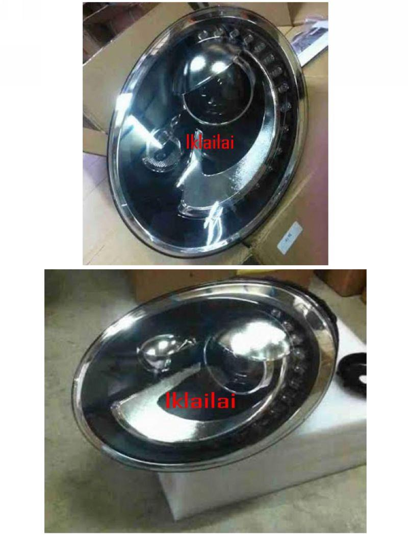 Volkswagen Beetle 12-13 Projector Head Lamp LED DRL R8 [1-pair]