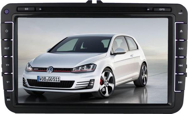 MOST VOLKSWAGEN DLAA 8' Full HD Double Din GPS DVD VCD MP3 USB Player
