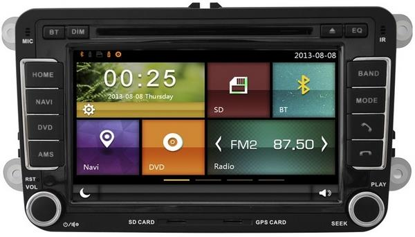 "MOST VOLKSWAGEN DYNAVIN 7"" Double Din Mirror Link GPS DVD SD TV Player"