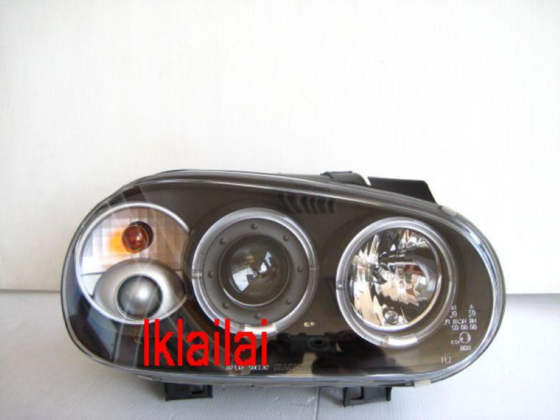 VOLKSWAGEN GOLF 4 '98-04 LED Ring Projector Head Lamp