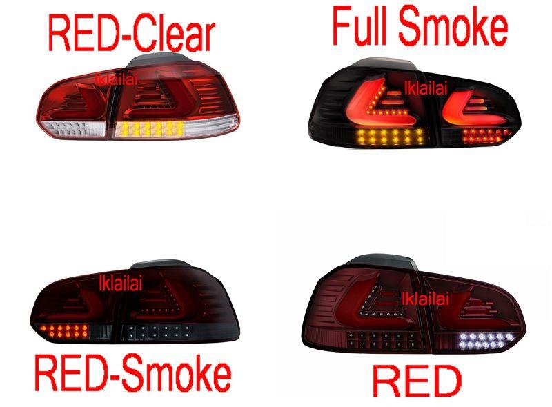 Volkswagen Golf 6 '09 Full Light Bar LED Tail Lamp + LED Signal