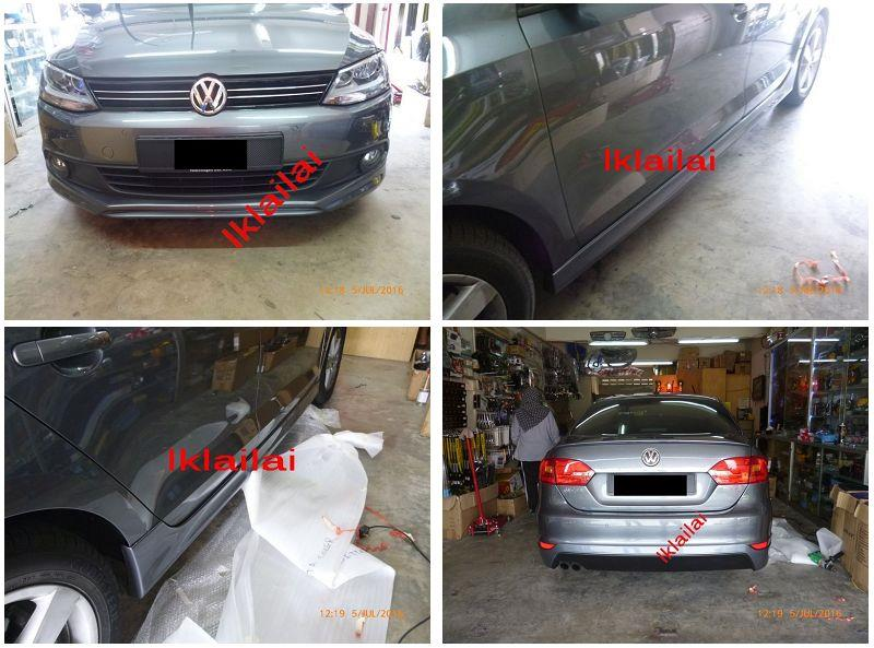 Volkswagen Jetta Full Set Skirting + Spoiler Painted Body