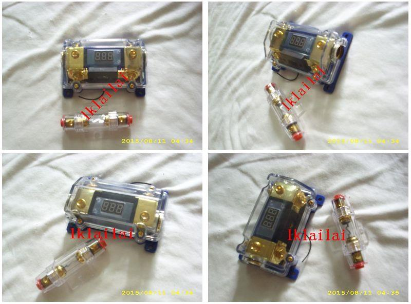Voltage Gold Plated Amplifier +Digital Display Power Block Fuse Holder