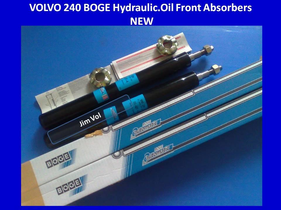 VOLVO 240 BOGE Original Front Hydraulic/Oil Absorbers NEW