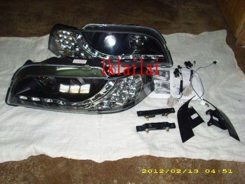 VOLVO S40 '97-'00 Crystal Projector Head Lamp LED Corner [DRL R8]