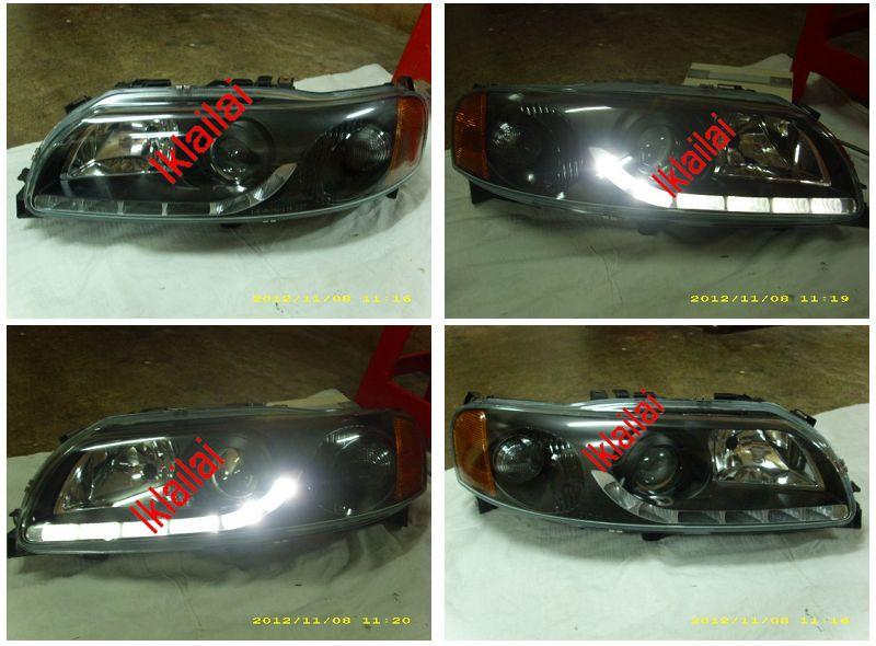 Volvo S60 V70 '02-05 Projector Head Lamp [R8 Look] [Black Housing]