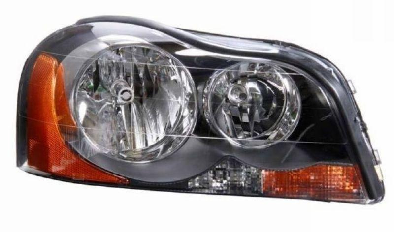 Volvo XC90 03-08 Crystal Head Lamp Black