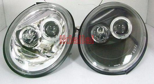 VW BEETLE '98-05 LED Projector Head Lamp +Eye Brown