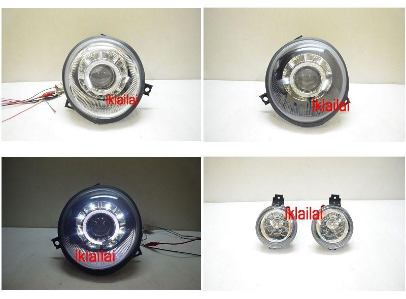 VW LUPO 99-06 LED Ring Projector Head Lamp +LED Corner [DRL]