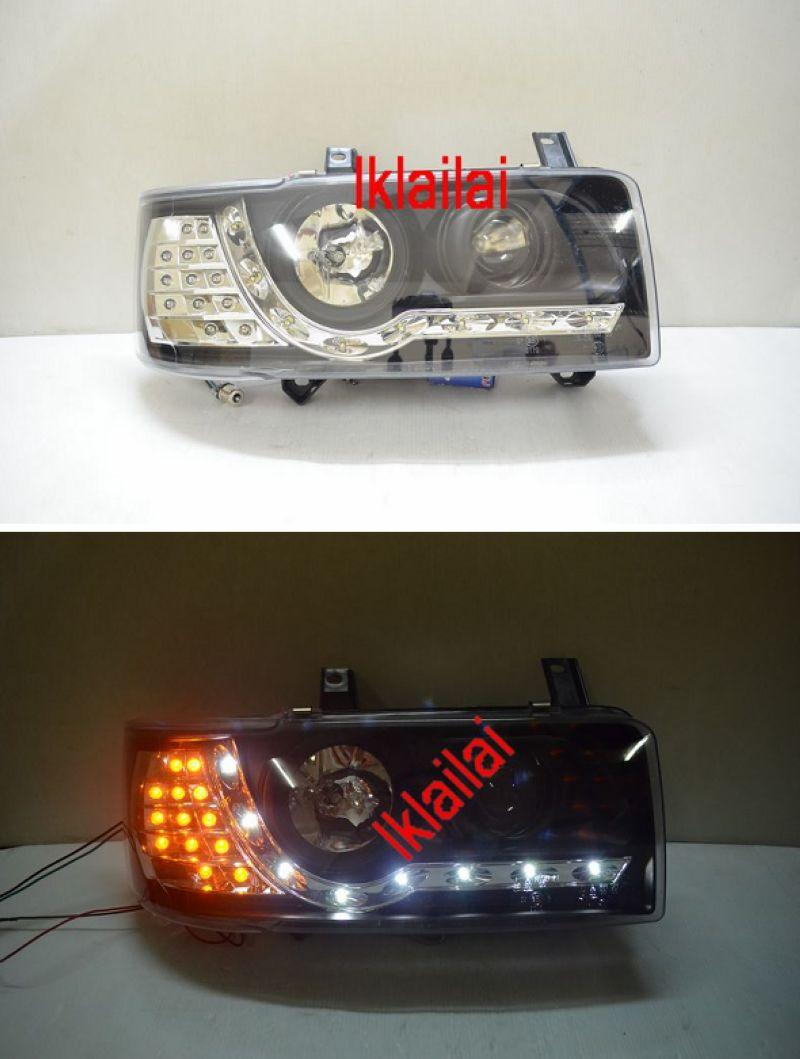 VW T4 90-97 Projector Head Lamp LED Corner [DRL R8]