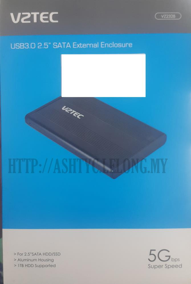 VZTEC USB3.0 2.5' SATA EXTERNAL ENCLOSURE VZ2328