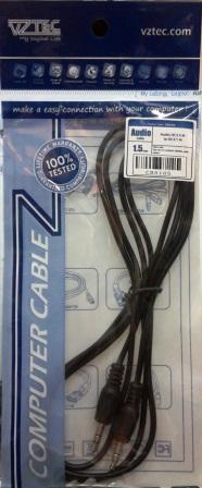 VZTEC/ VETOP AUDIO JACK TO AUDIO JACK CABLE, 1.5M, CB5105