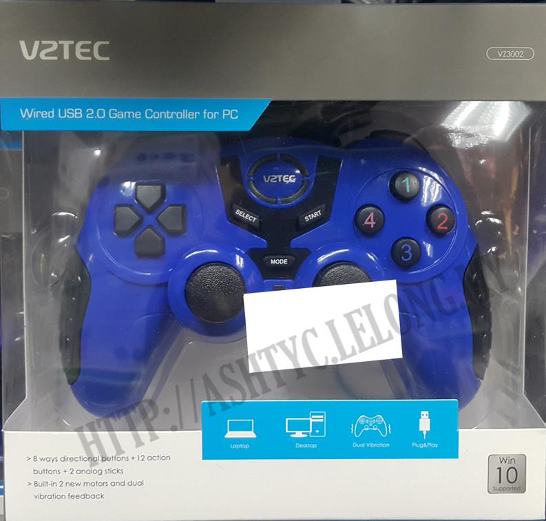 VZTEC WIRED USB2.0 GAME CONTROLLER FOR PC VZ3002 BLUE