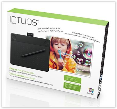 WACOM INTUOS PHOTO SMALL 6' X 3.7' (CTH-490/K2-CX) BLK GRAPHIC TABLET