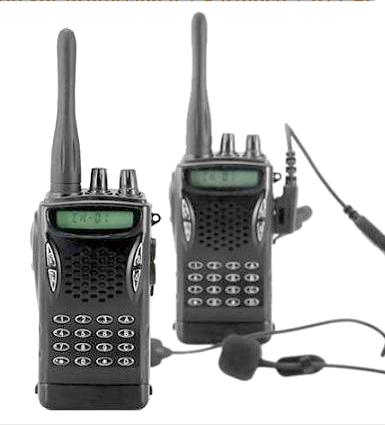 Walkie Talkie Set Professional + Earpiece + PTT Button-