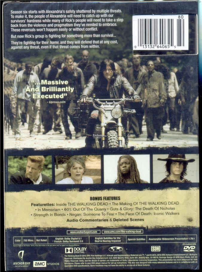 The Walking Dead - The Complete Sixth Season - New DVD