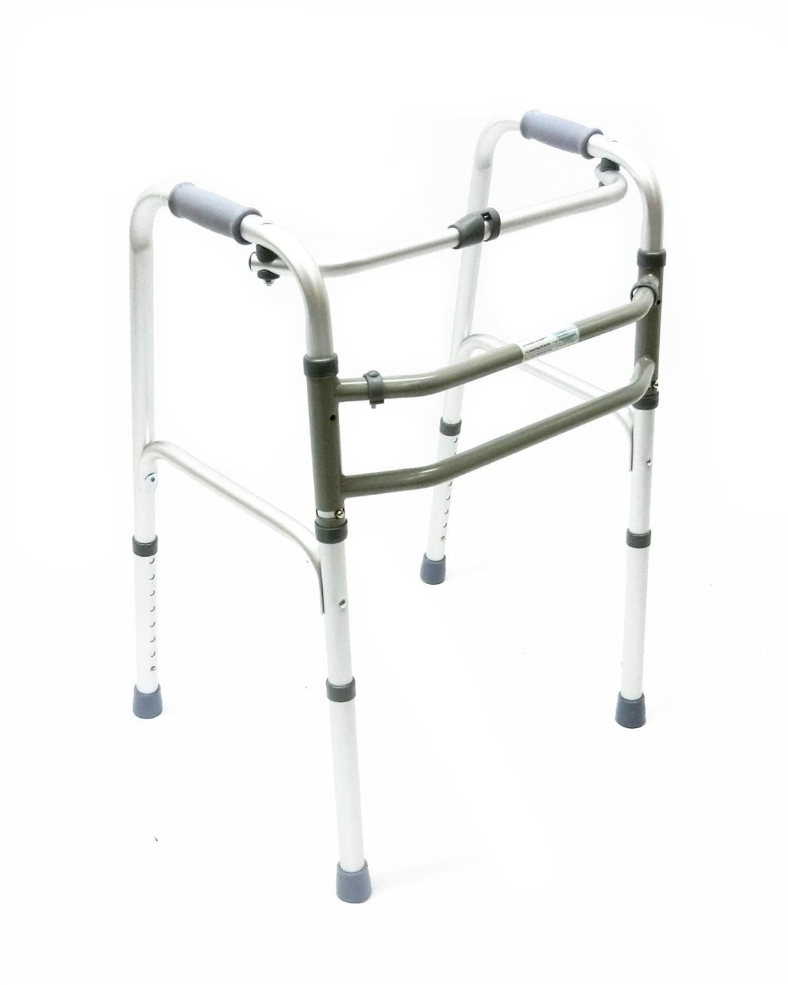 Walking frame reciprocal foldable adjustable height Alat bantu jalan