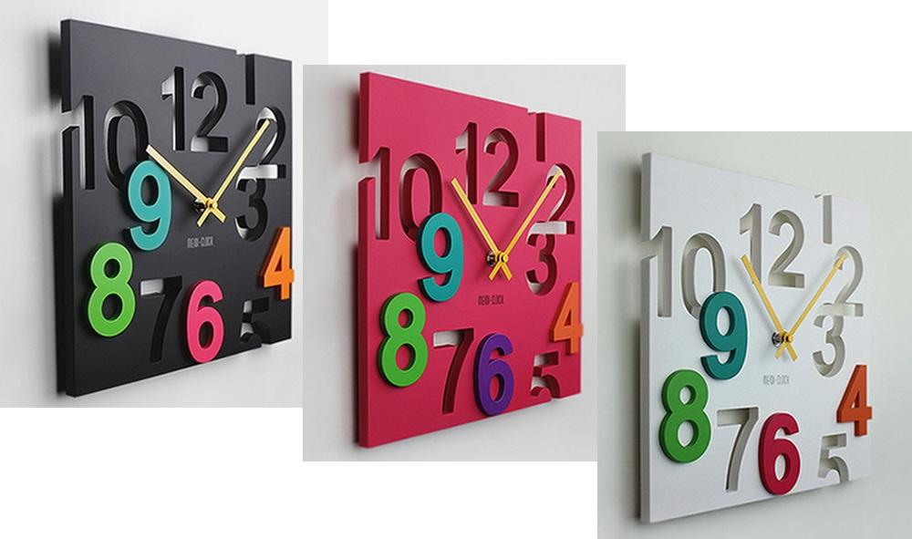 Wall Clock 3D Colourful Design
