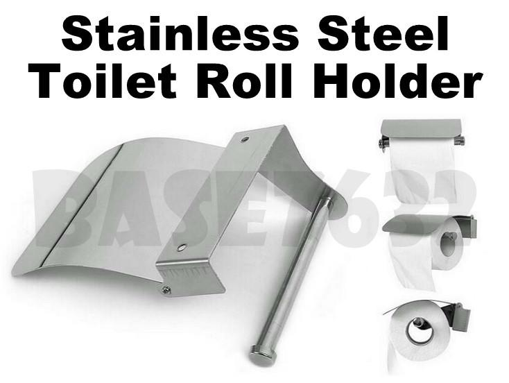 Wall Mounted  Stainless Steel Toilet Paper Tissue Roll Holder Box