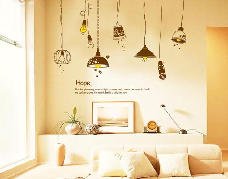 wall sticker hope lamp colourful & designers' series