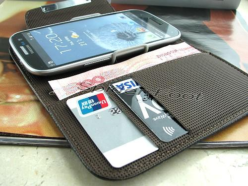 Wallet Leather Case Book Flip Folio Cover for Samsung Galaxy S3 SIII