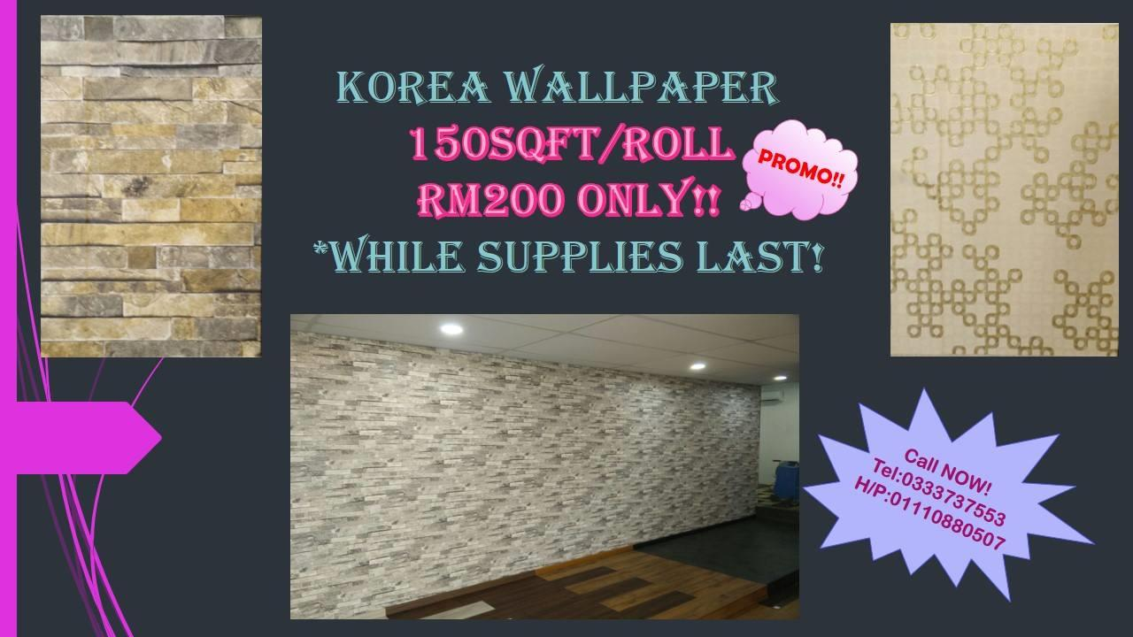 Wallpaper PROMO RM200 for 150sqft roll!! – KARPET MALAYSIA