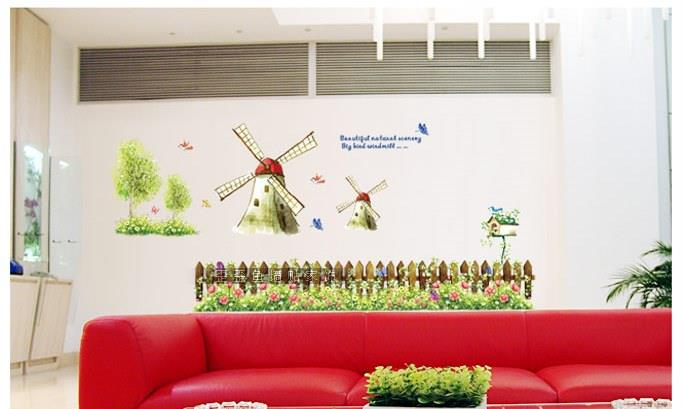 Wallsticker - Windmills 60*90cm
