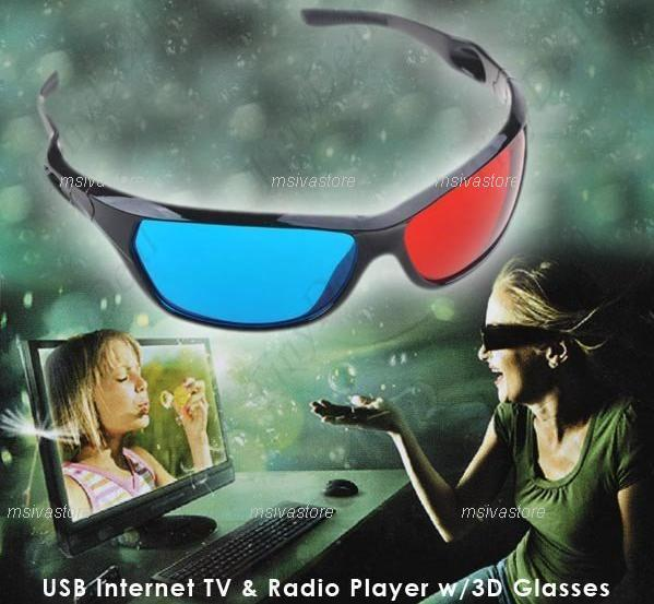 Watch Full HD 1080 3D Internet USB Dongle TV+ Radio+ 3D Glasses +Adult