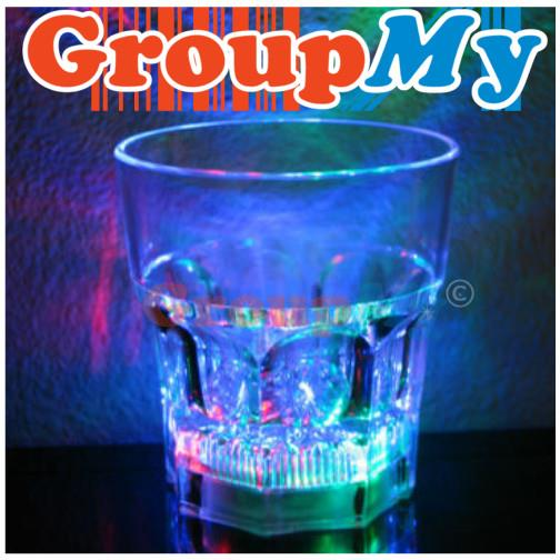 Water Activated LED Whisky Shot Glass Auto Color Changing Flash Light