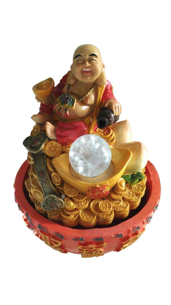 Water fountain laughing buddha 809 end 12 3 2018 5 15 pm for Water feature feng shui