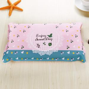 (No Water Injection) Cute Summer Cartoon Cool Ice Pillow-L-Cherry