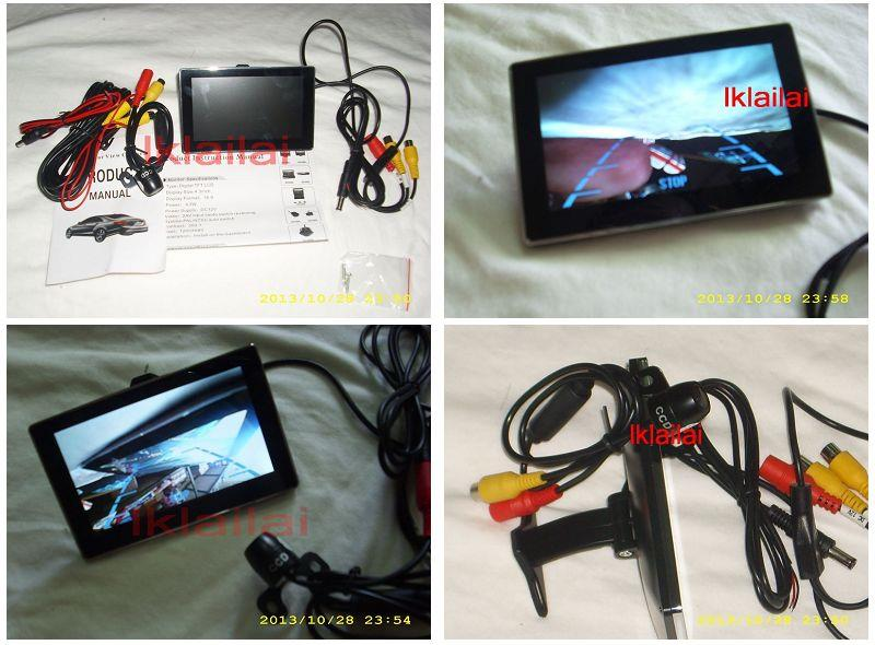 Water Proof Colour Reverse Camera + 4.3 inch Monitor
