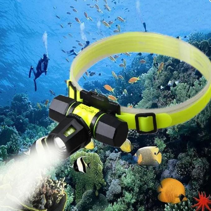 Waterpoof head lantern For CREE XML T6 LED Headlamp Underwater head la