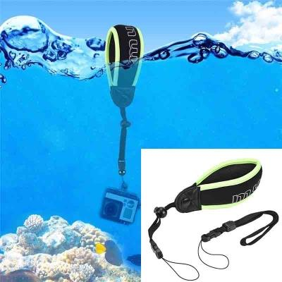 Waterproof Camera Floating Wrist Strap with Adjustable Wristband Black