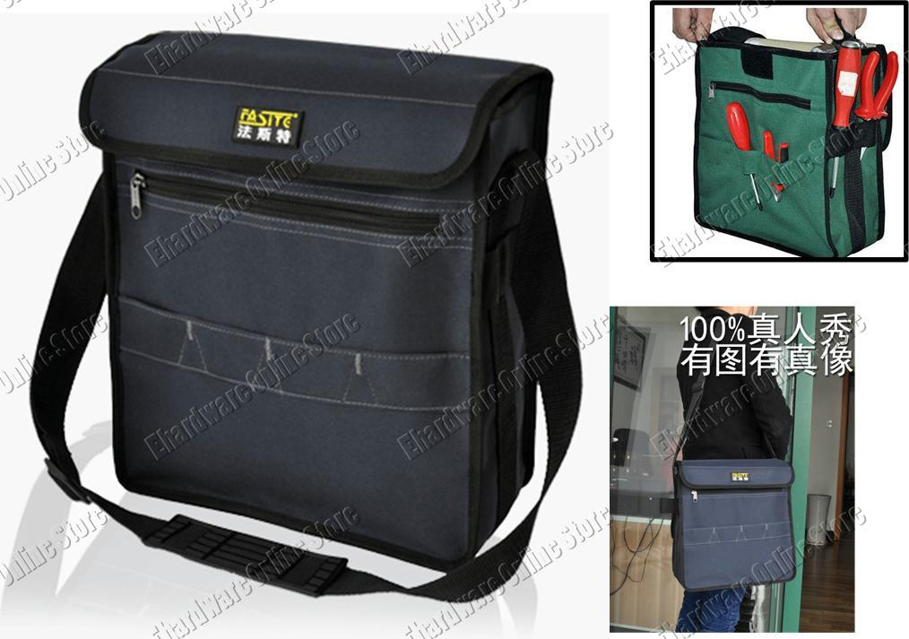 WATERPROOF ELECTRICIAN MULTI-POCKETS SHOULDER TOOL BAG 12' (PT-N072)
