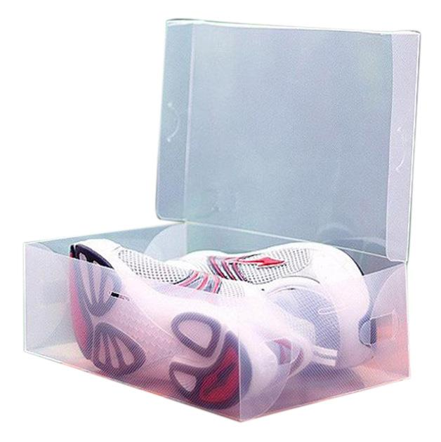 Waterproof Flip Men Women Transparent Storage Shoes Box