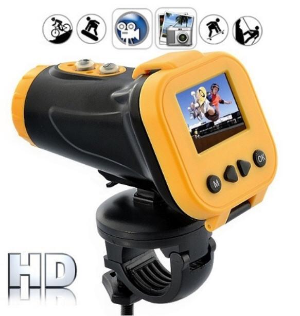 Waterproof Laser Sport Action Camera with Screen (WSP-06)▼
