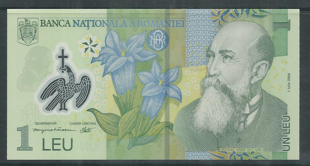 WBN-38 ROMANIA POLYMER BANK NOTE UNC