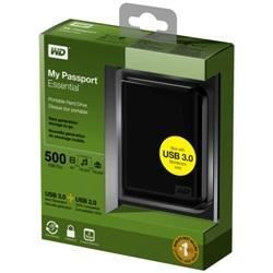 WD 2.5� Passport Essential HDD 500G USB3.0 + USB 2.0