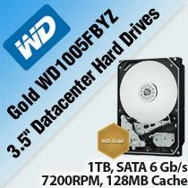 "WD GOLD WD1005FBYZ 3.5"" DATACENTER HARD DRIVES"
