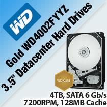 WD GOLD WD4002FYYZ 3.5' DATACENTER HARD DRIVES