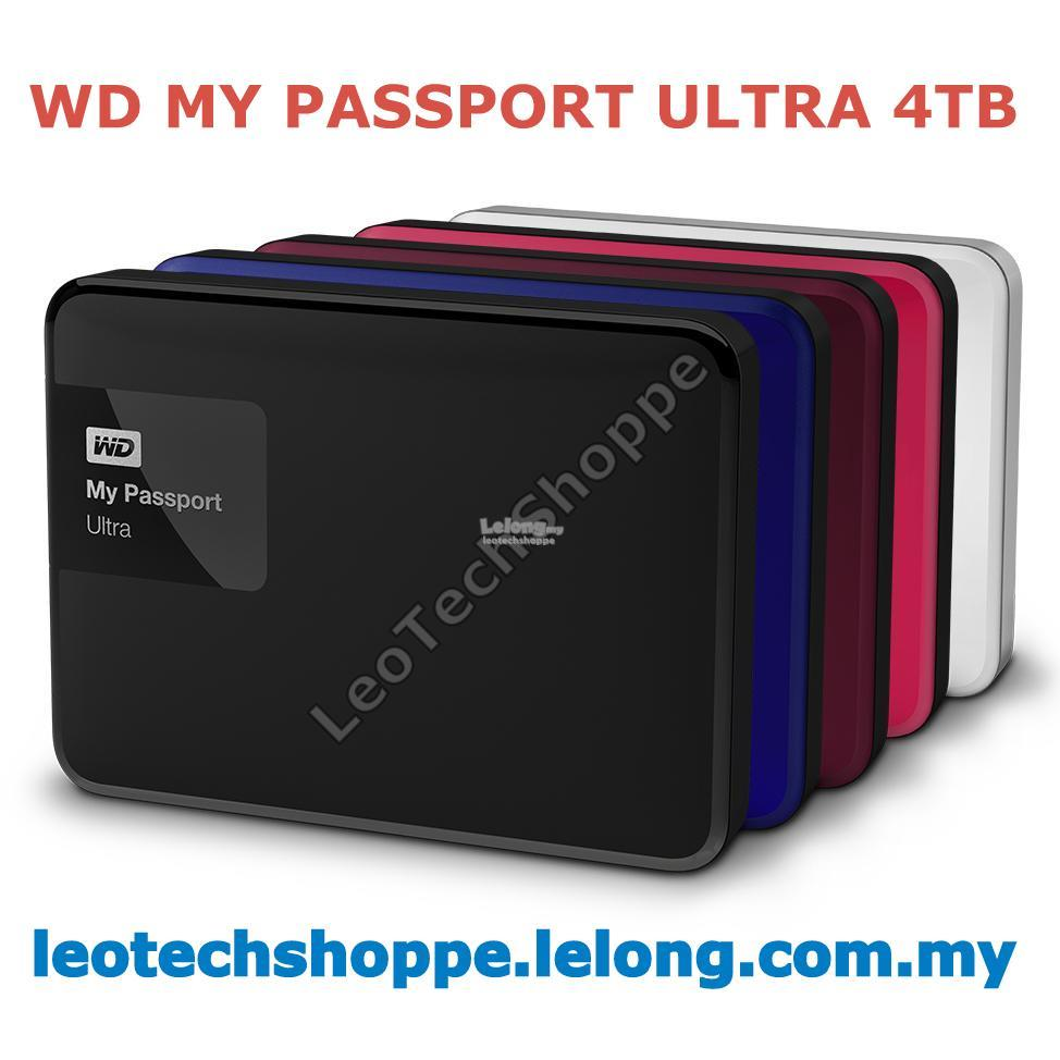 WD MY PASSPORT ULTRA 4TB (ASSORTED COLORS) EXTERNAL PORTABLE HARDDISK