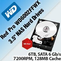 WD RED PRO WD6002FFWX 3.5' NAS HARD DRIVES